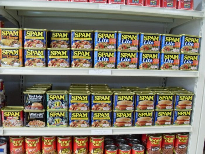 spam on shelves