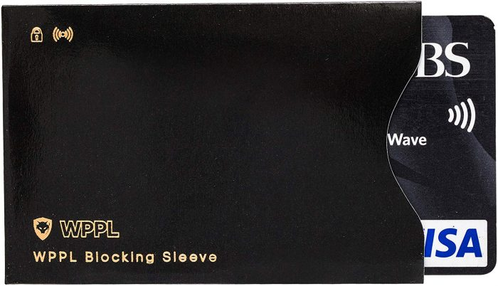 credit card with sleeve