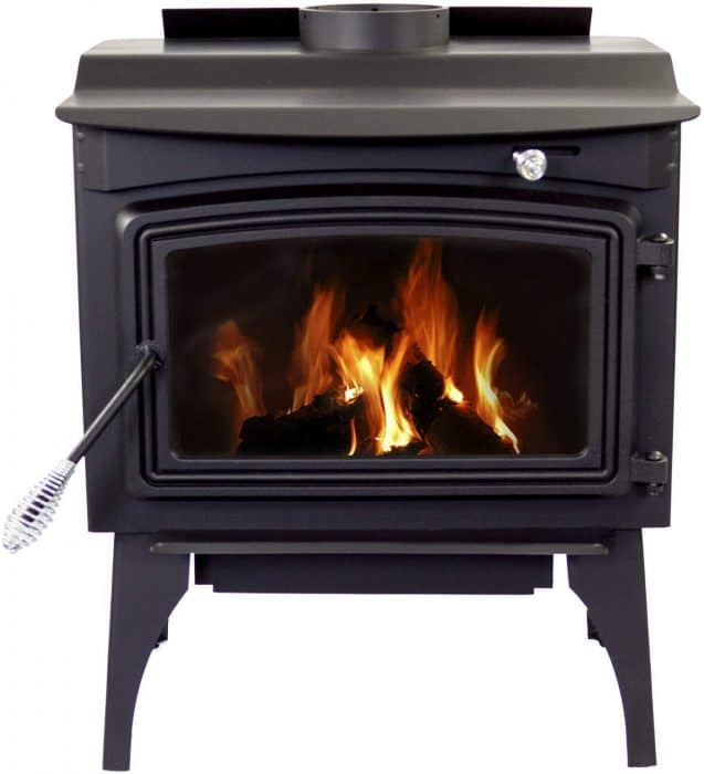 wood burning stove surviving off the grid
