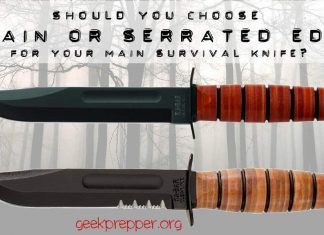 Plain Edge or Serrated Edge