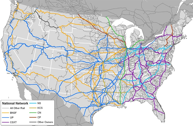 current freight rail road map