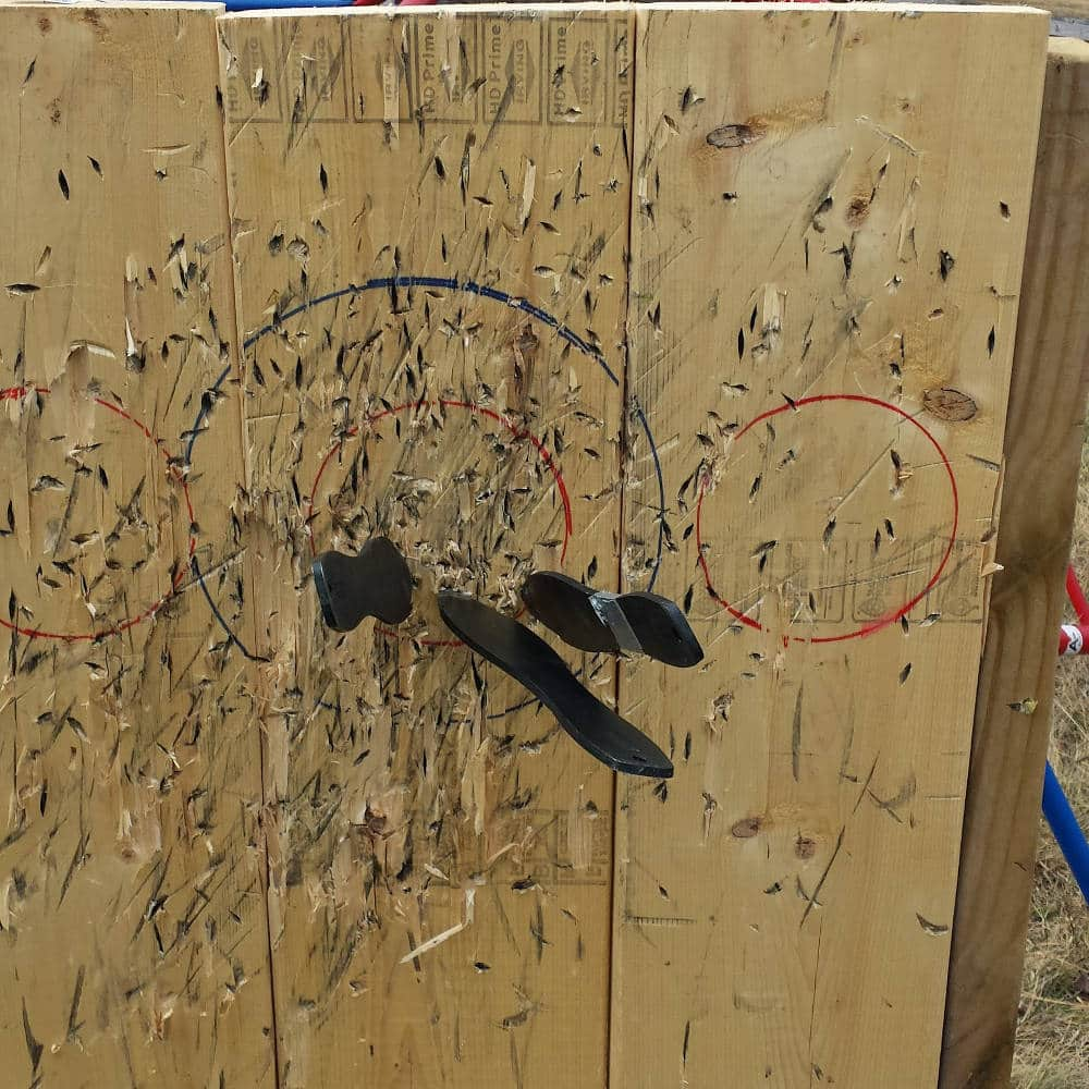 Old throwing target