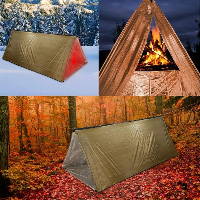 LYN Emergency Survival Mylar Thermal Shelter Tube Tent
