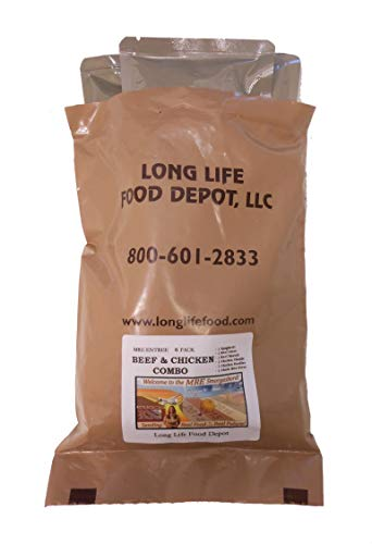 Long Life Food Depot MRE Beef & Chicken Entrees Combo