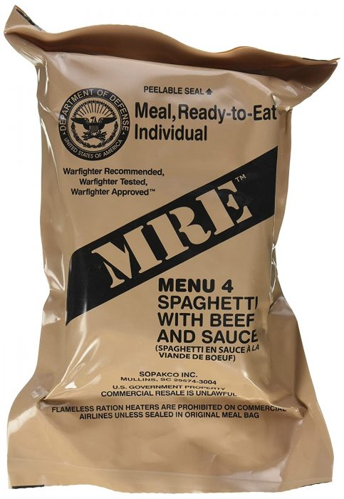MRE not for resale