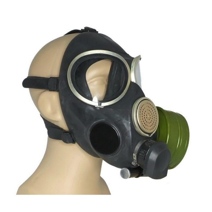 gas mask fitted
