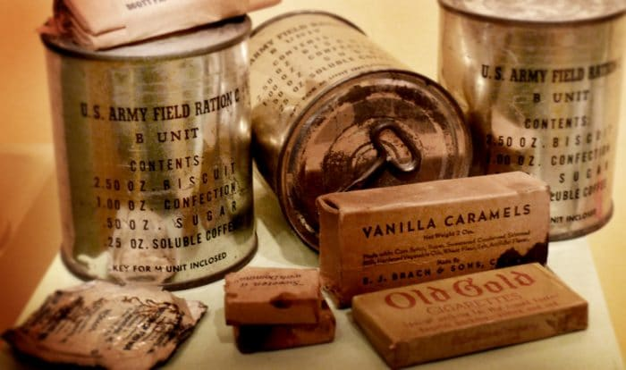 military rations credits to wikimedia Commons